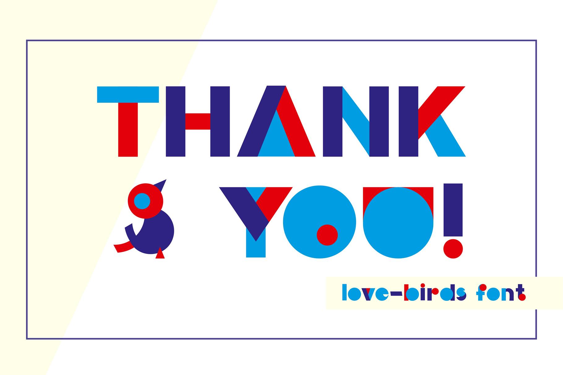 LOVE-BIRDS multicolor font example image 9