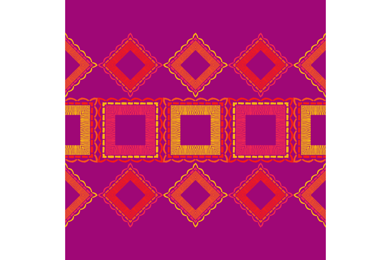 Zebra stripes. Ethnic boho ornament. 10 seamless patterns. example image 10