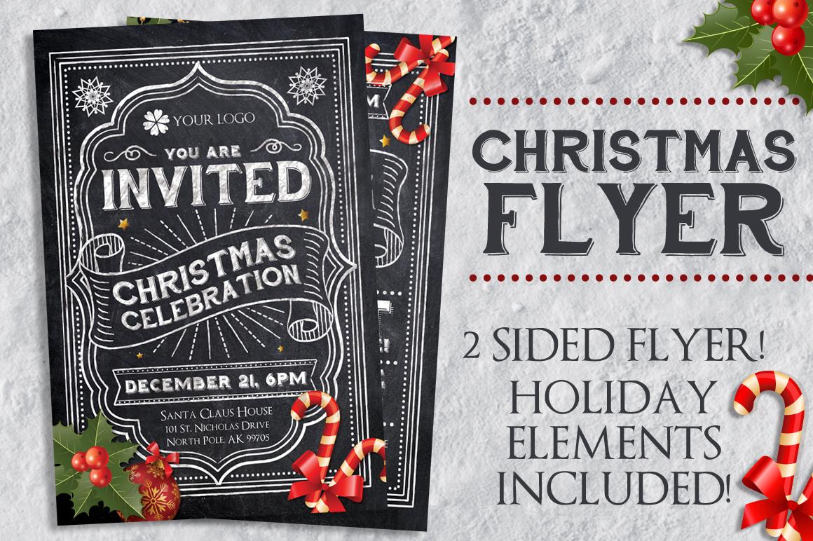 Chalk Christmas Flyer example image 1