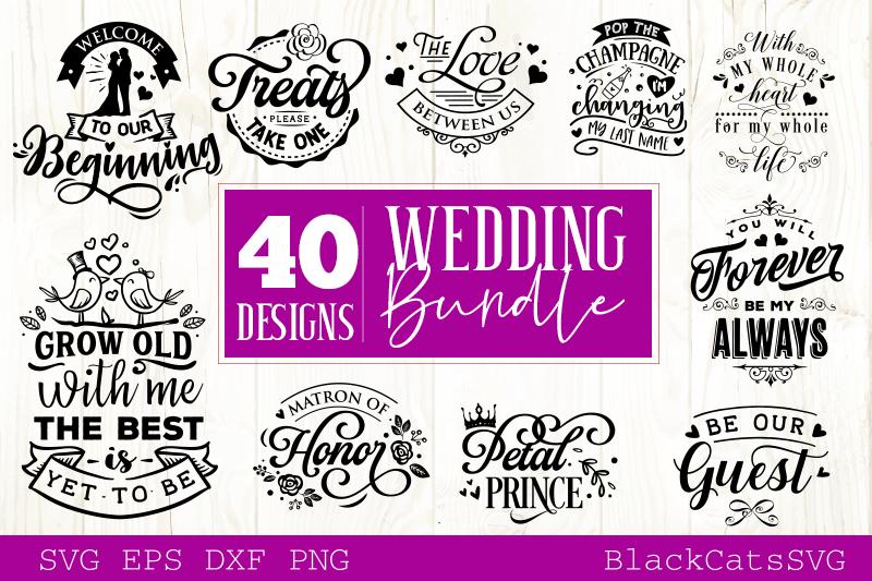 Wedding SVG bundle 40 designs vol 2 example image 3