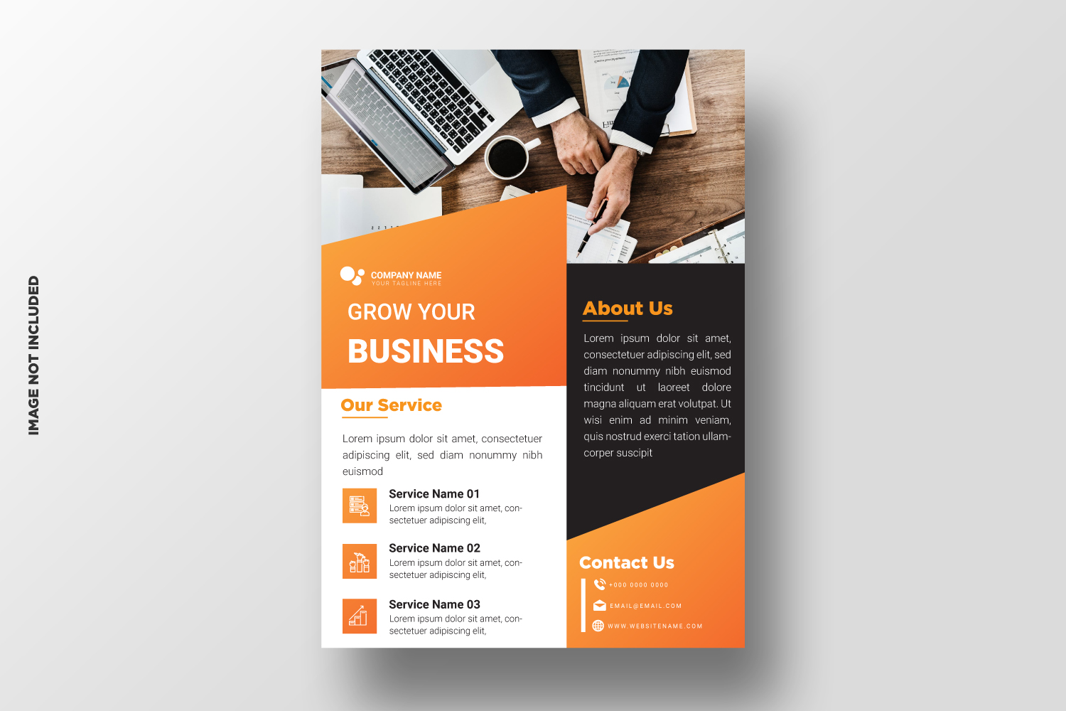 Business Flyer Template. Vol-10 example image 1