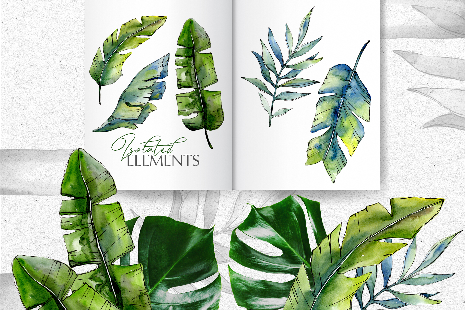 Tropical forest Watercolor png example image 6