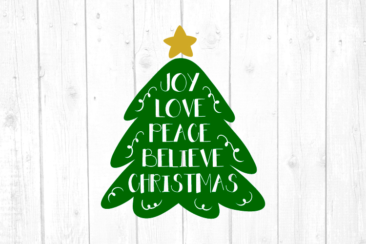 Joy Love Peace Believe Christmas Svg, Christmas, Svg FIles example image 1