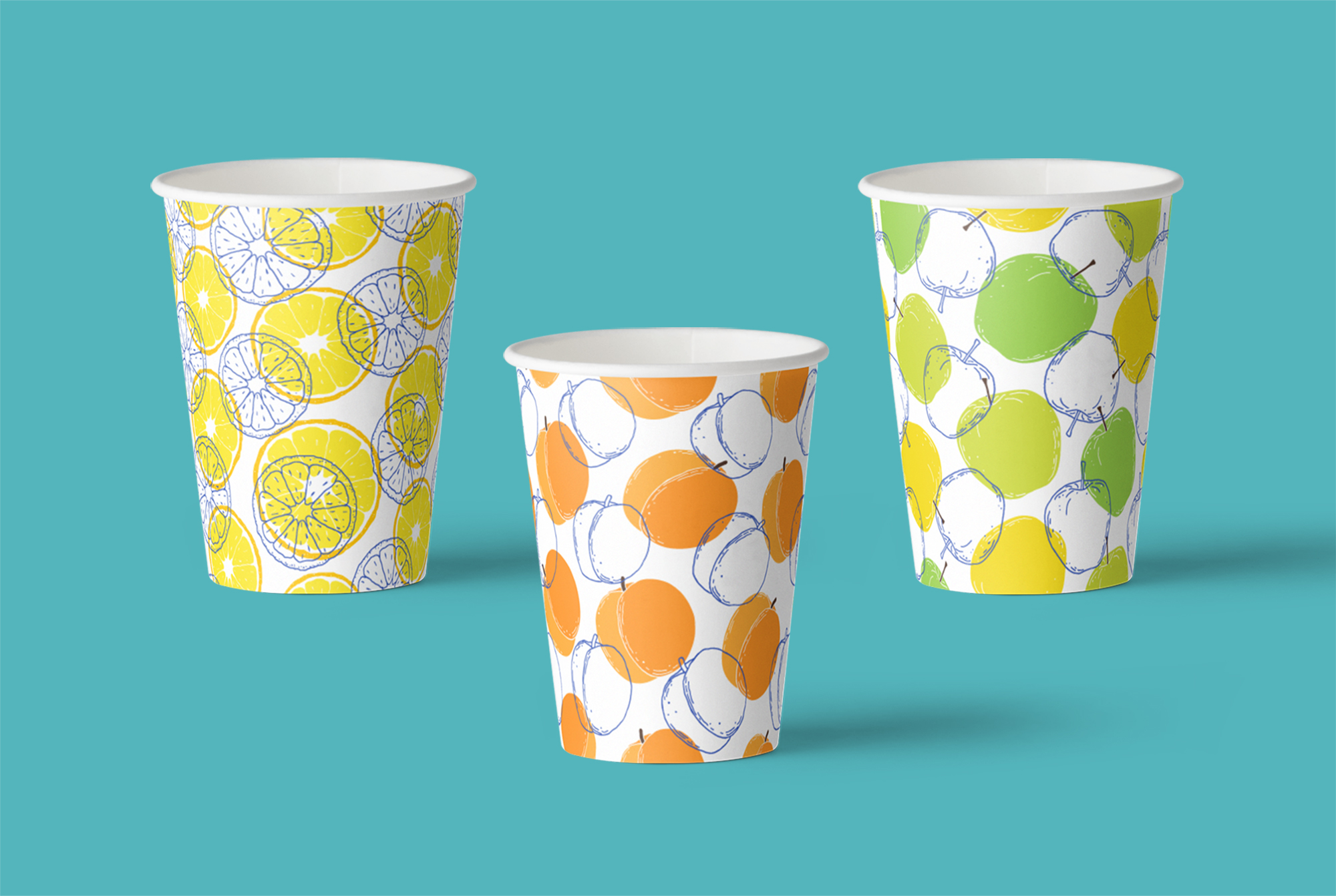 Fruits. Vector patterns. example image 4