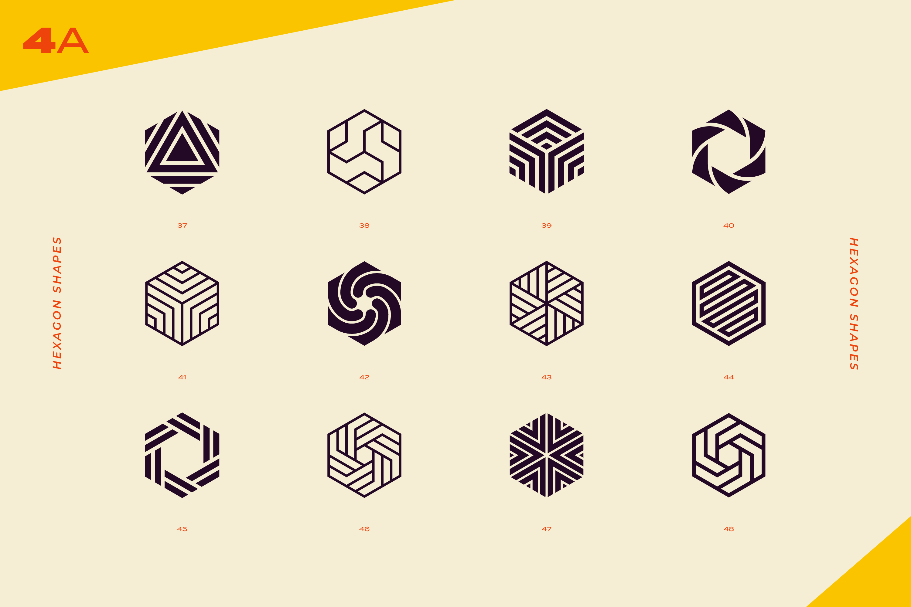 96 Abstract logo marks & geometric shapes collection example image 11