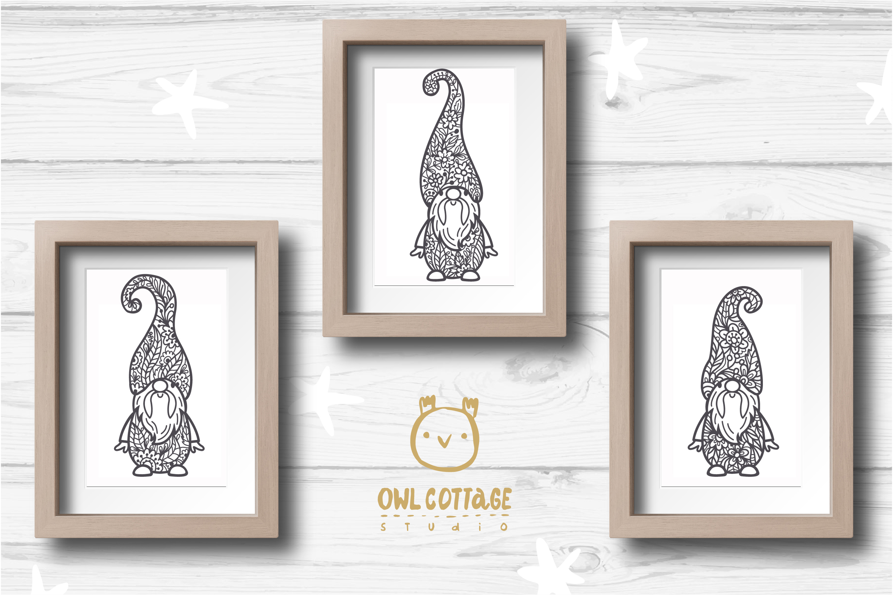 Scandinavian Floral Gnomes SVG, Gnome Clipart, Tomte example image 9