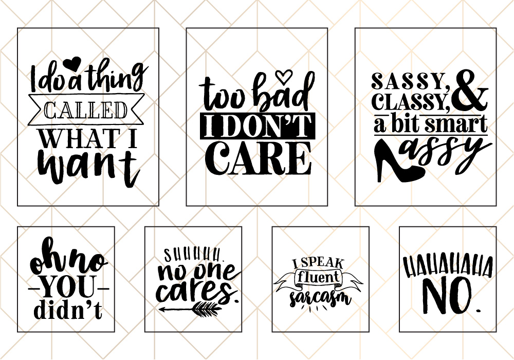 Sassy Quote SVG Cut File Bundle example image 2