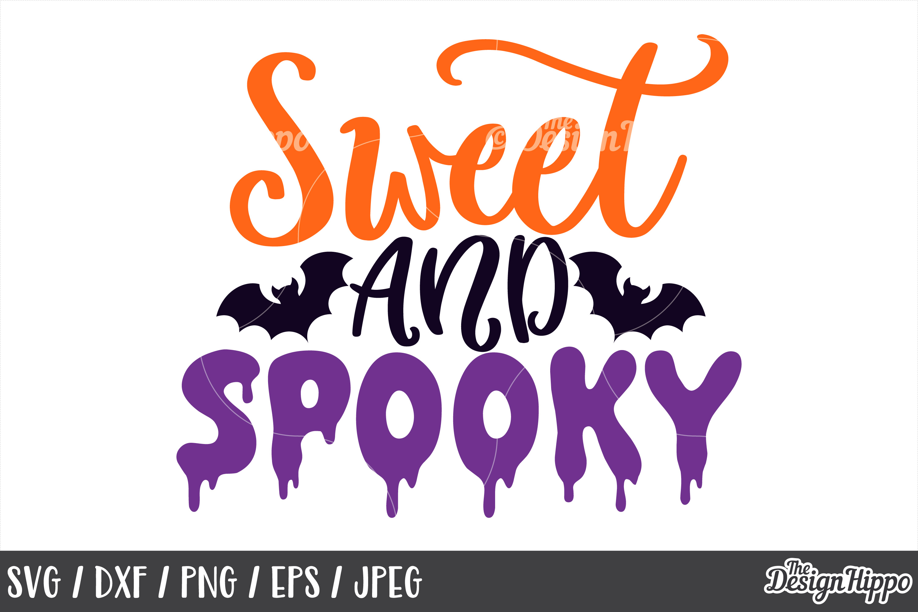 Sweet and spooky SVG, Halloween, Bats, Scary, Spooky, Cricut example image 1