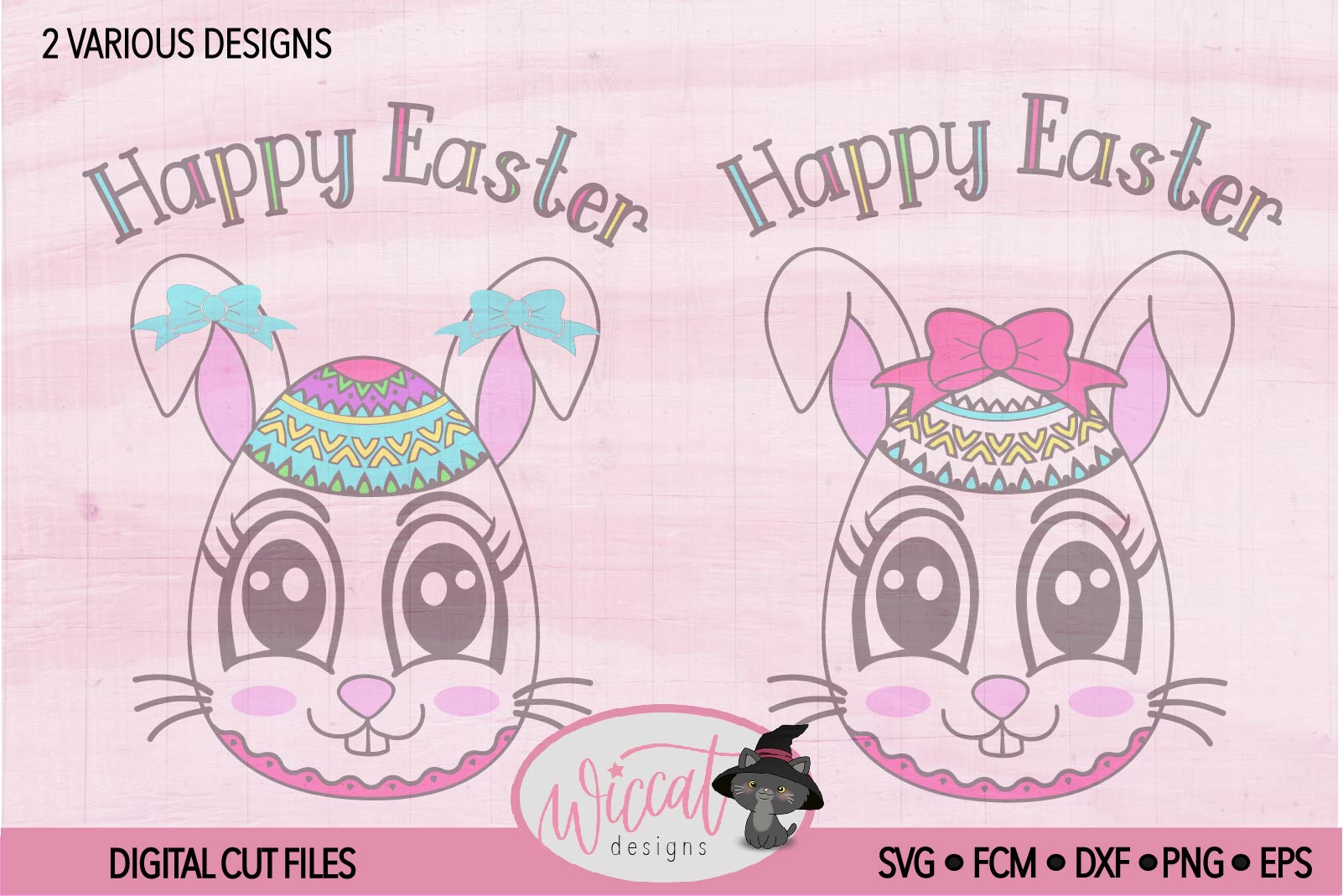 Easter egg with Bunny face svg, Girl bunny face svg cut file example image 2