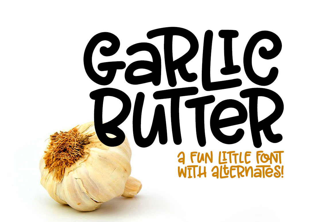 Garlic Butter a tasty fun font! example image 1