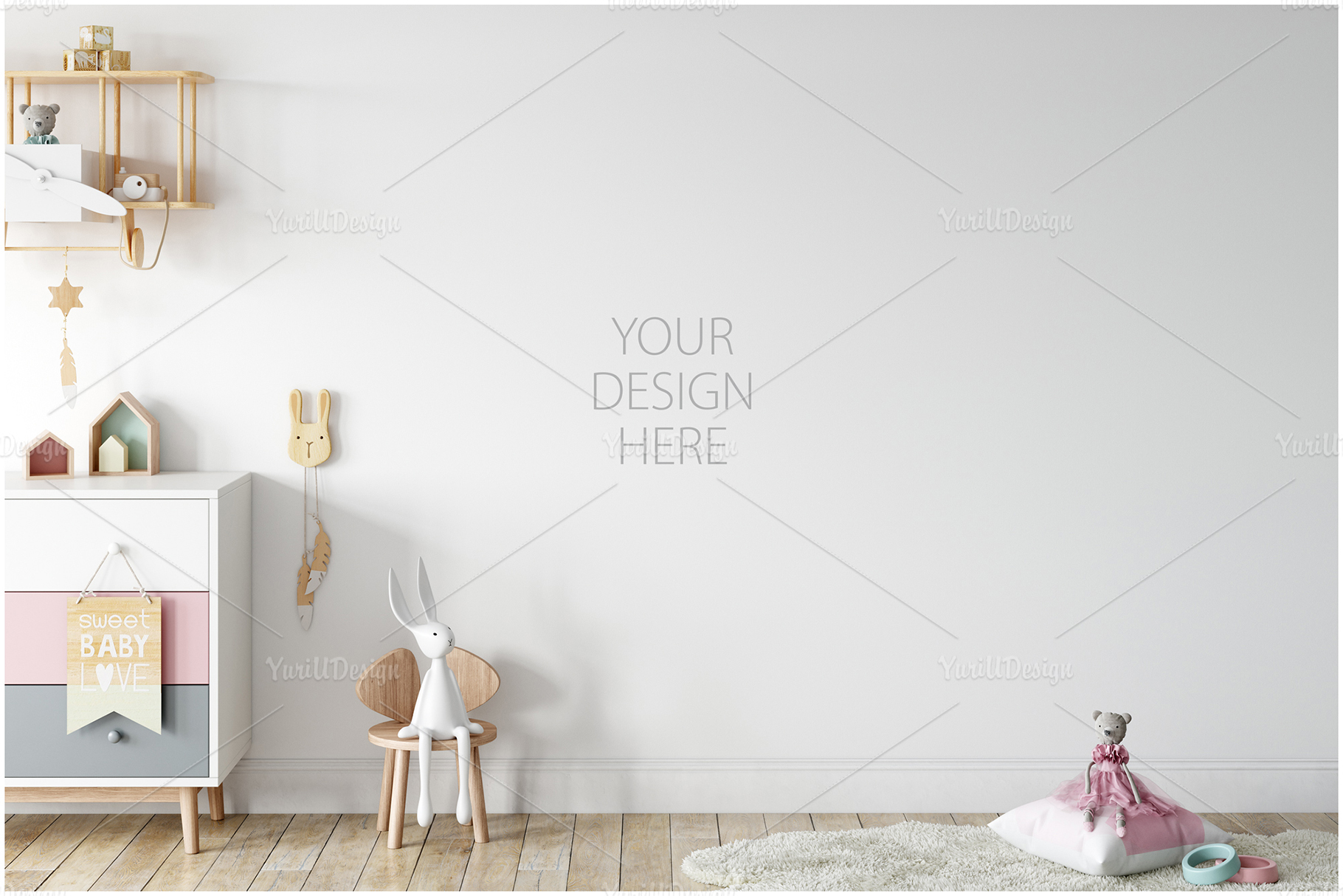Kids Frames & Wall Mockup Bundle - 5 example image 25