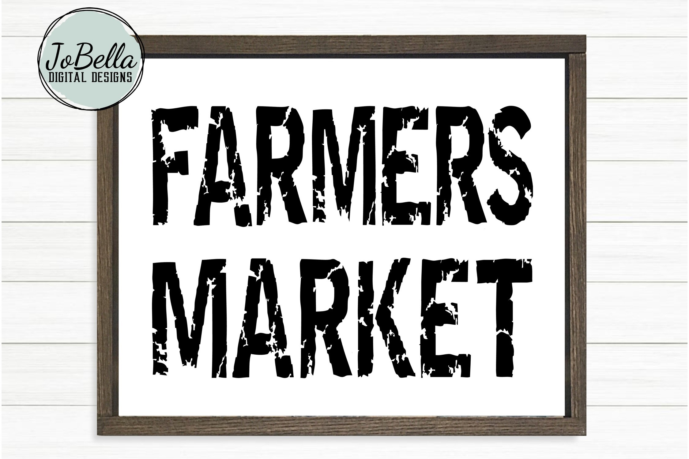 Farmers Market SVG and Printable-Distressed Farmhouse Design example image 1