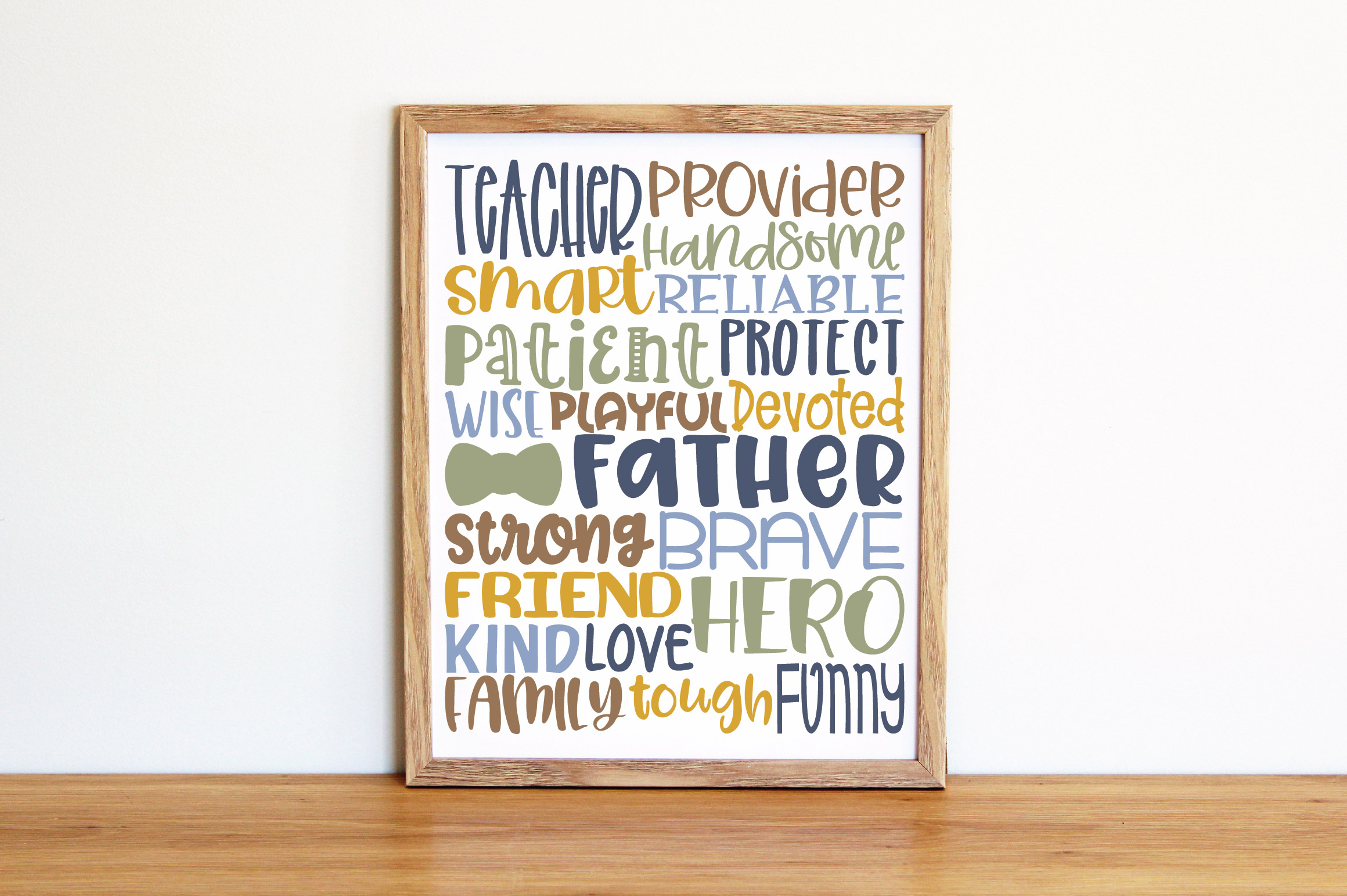 Fathers Day Subway Art SVG Cut File example image 2