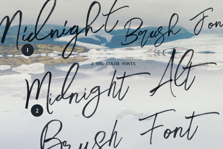 Midnight Brush & SVG Font example image 2