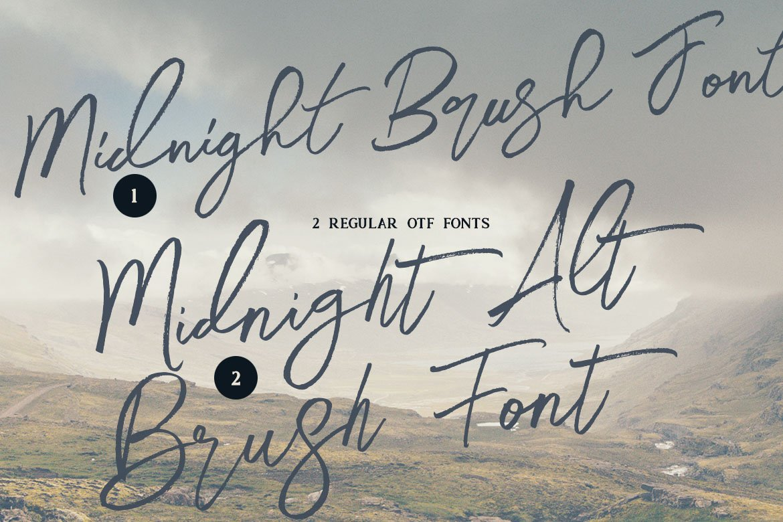 Midnight Brush & SVG Font example image 3