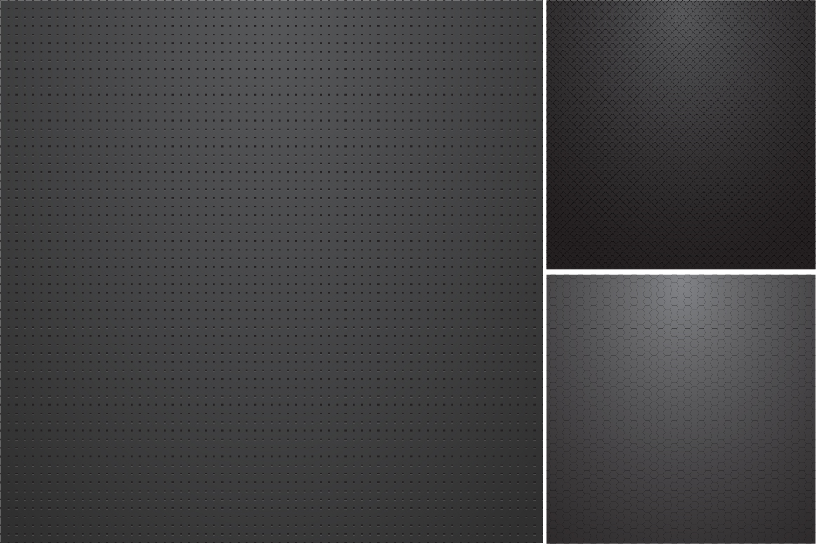 Collection of dark metal textures. example image 5