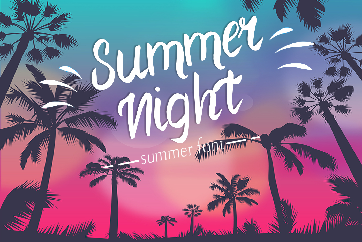 Summer Night Font example image 1