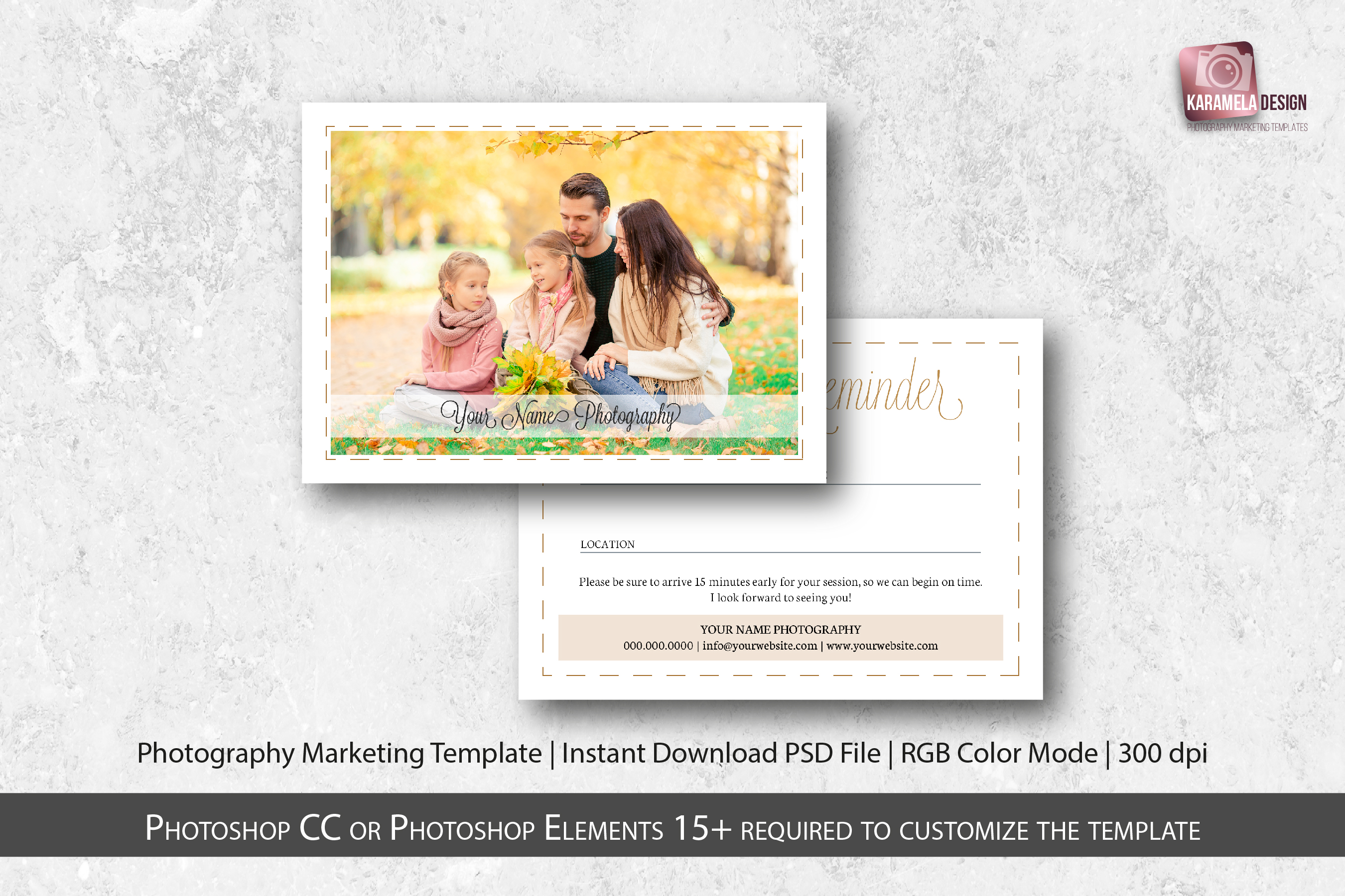Photo Sessions Client Reminder Template example image 1