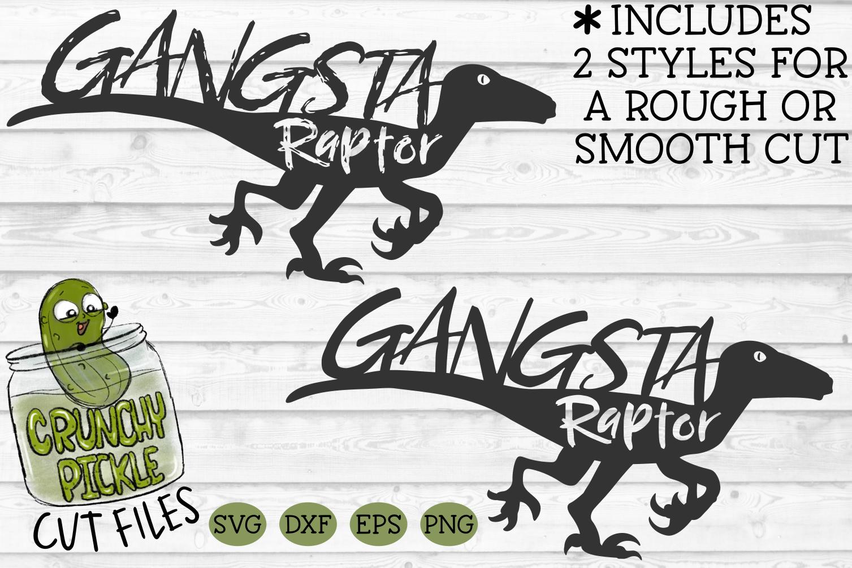 Gangsta Raptor Dinosaur svg example image 2