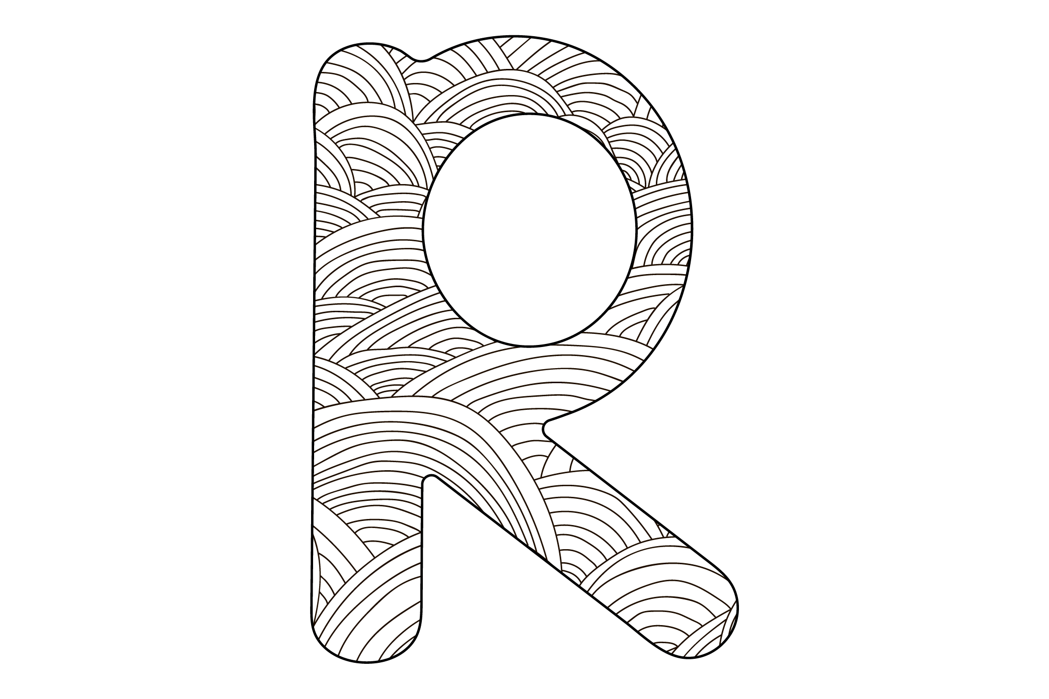 Alphabet. Letters A-Z. Coloring. example image 5