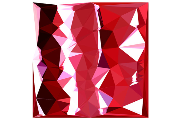Barn Red Abstract Low Polygon Background example image 1