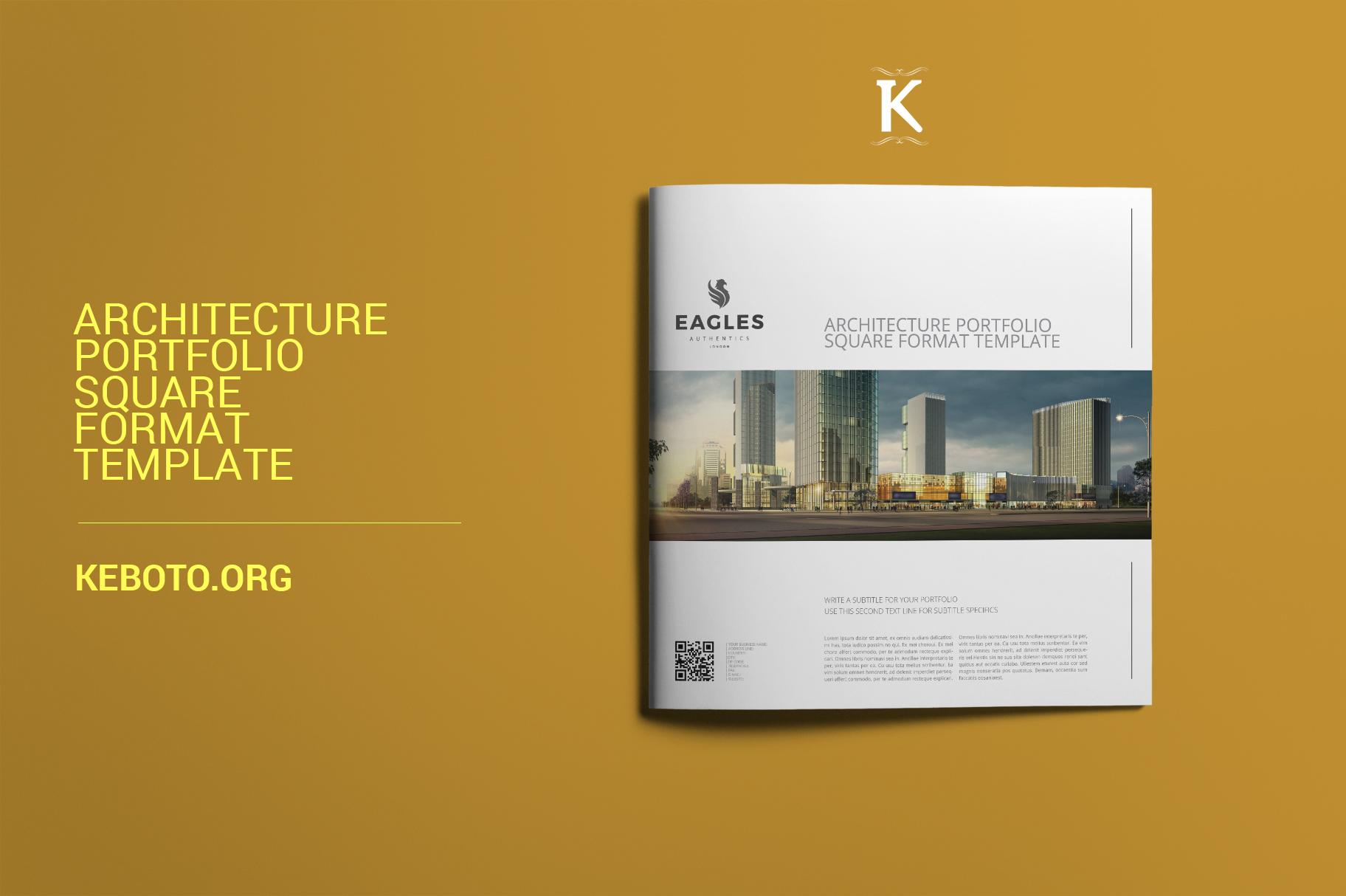 Architecture Portfolio Square Format Template example image 1