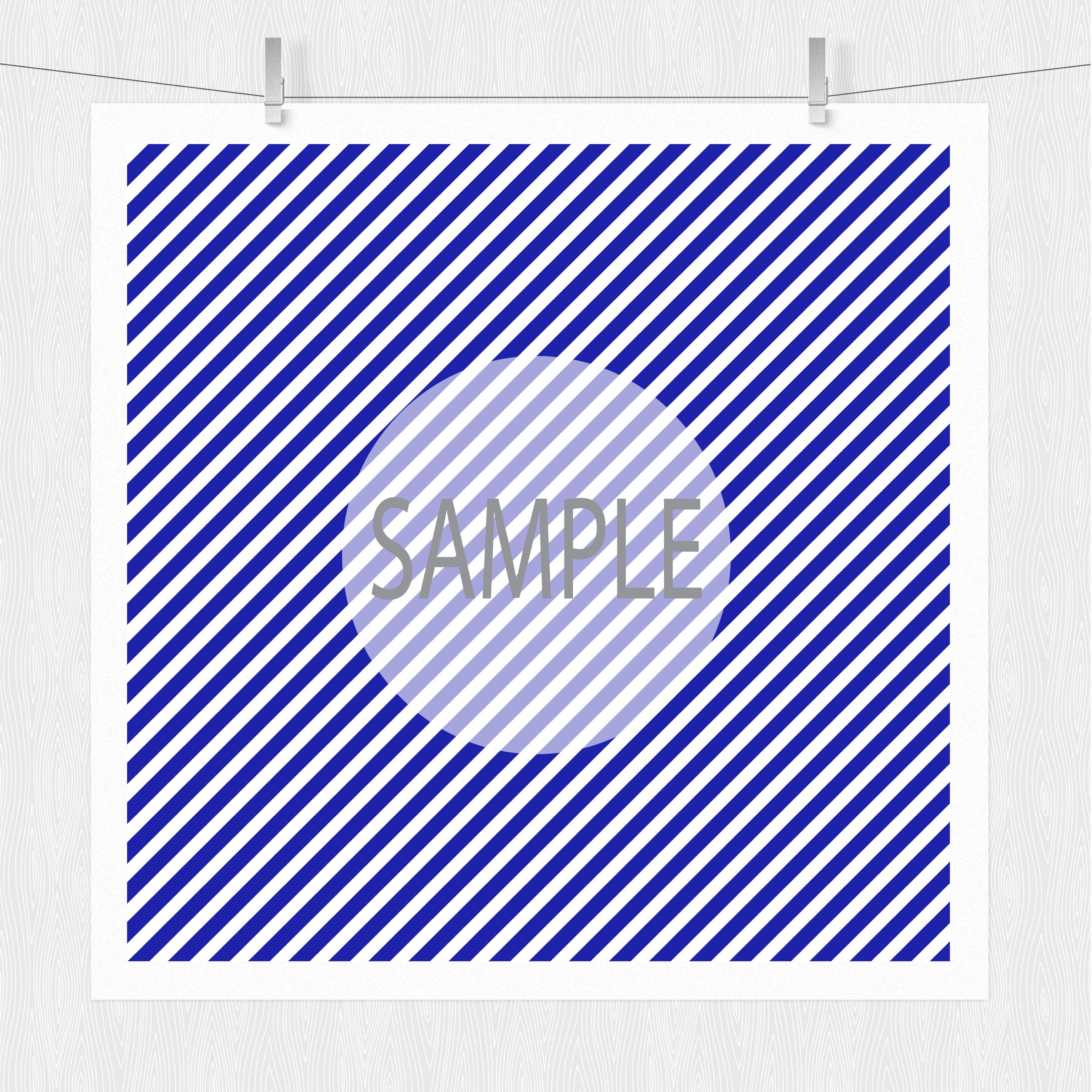 Diagonal Stripe Digital Scrapbook Paper  example image 2