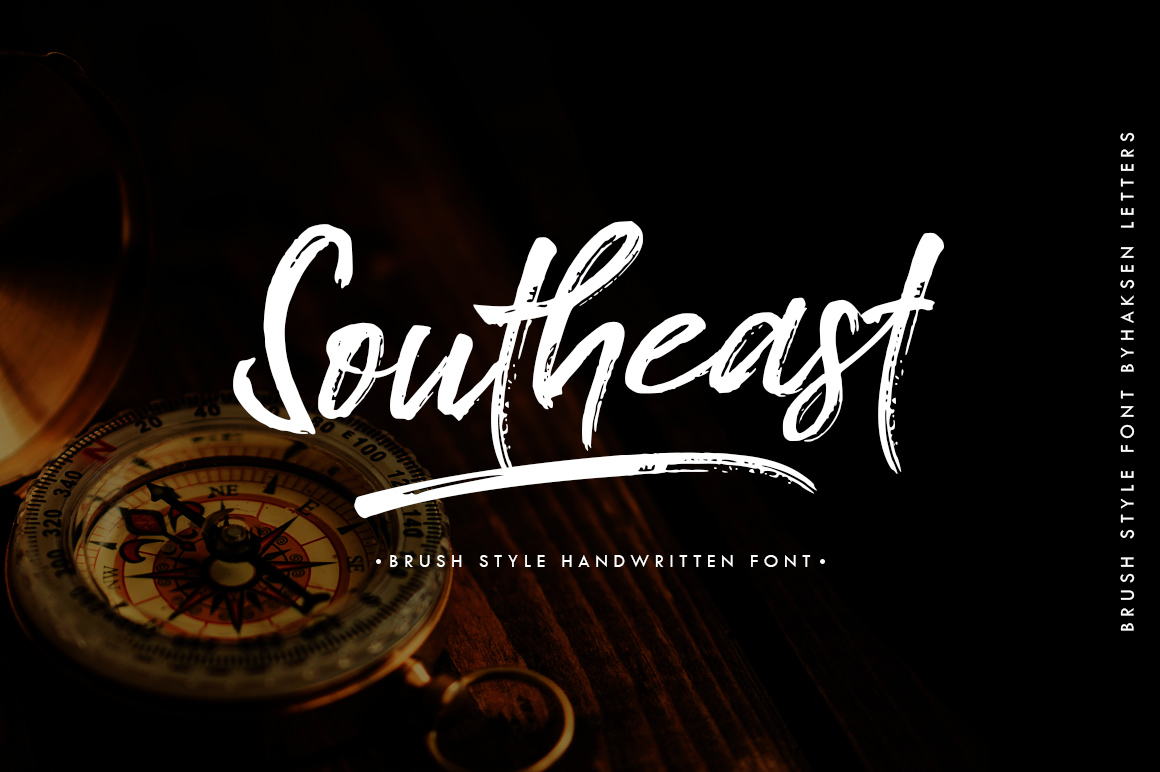 Southeast Brush Font example image 1