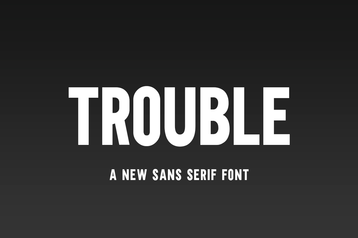 Trouble Font example image 1