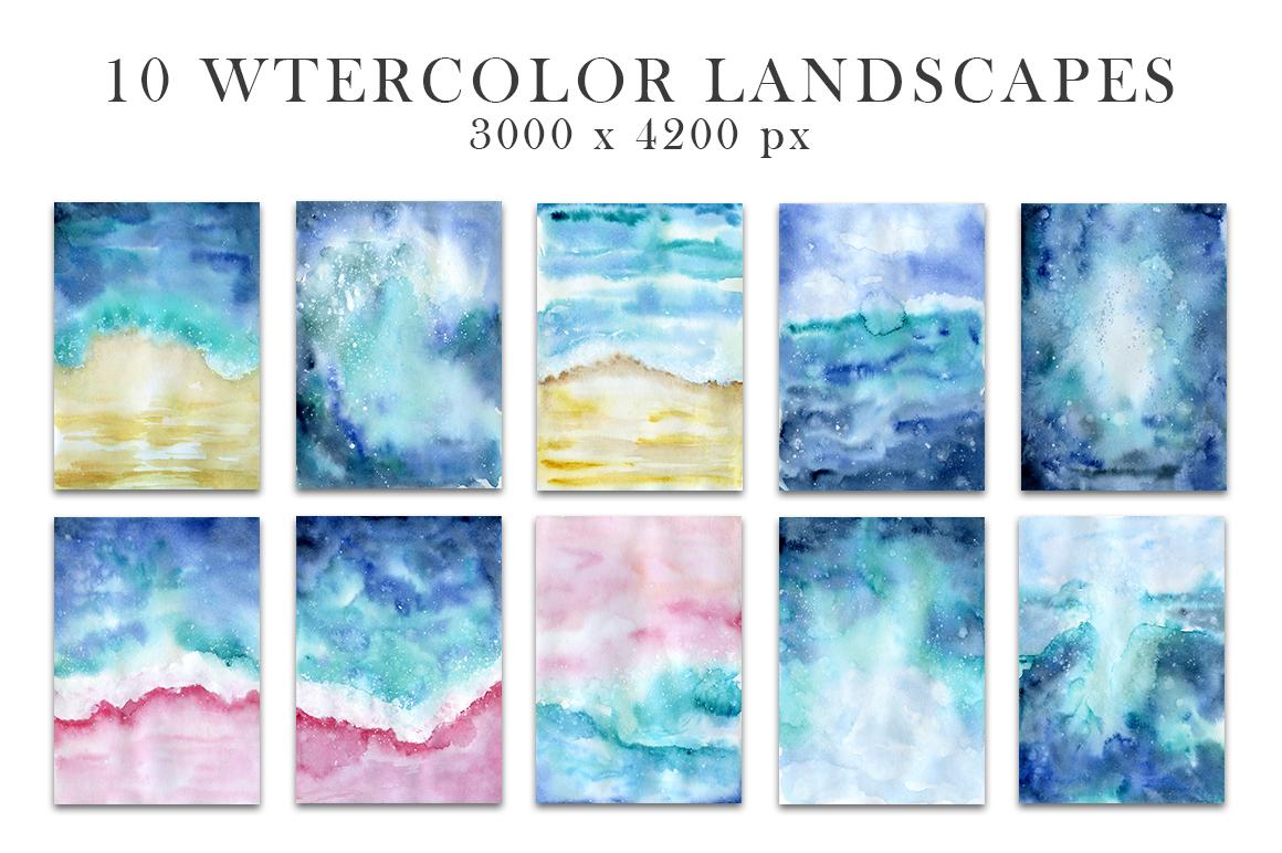 Ocean watercolor collection example image 4