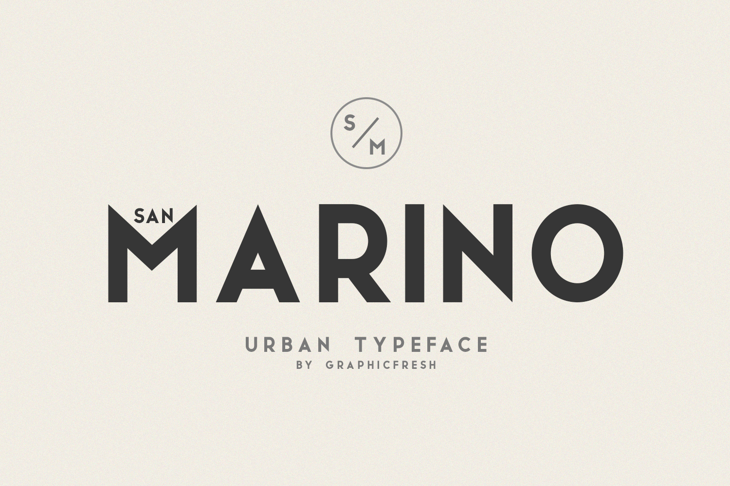 San Marino // Four Font Files example image 1