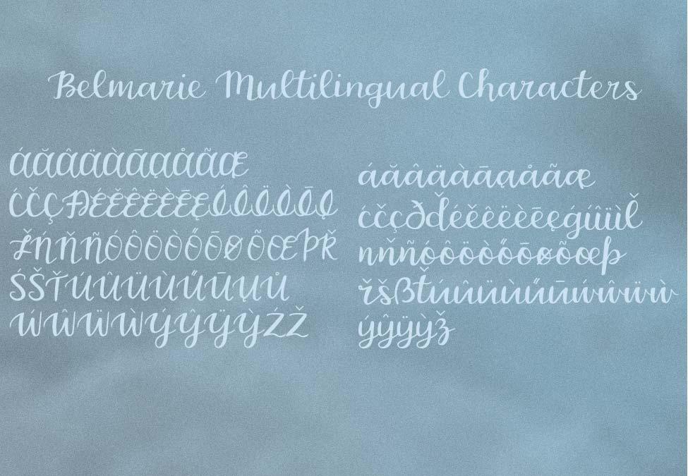 Belmarie Script example image 5