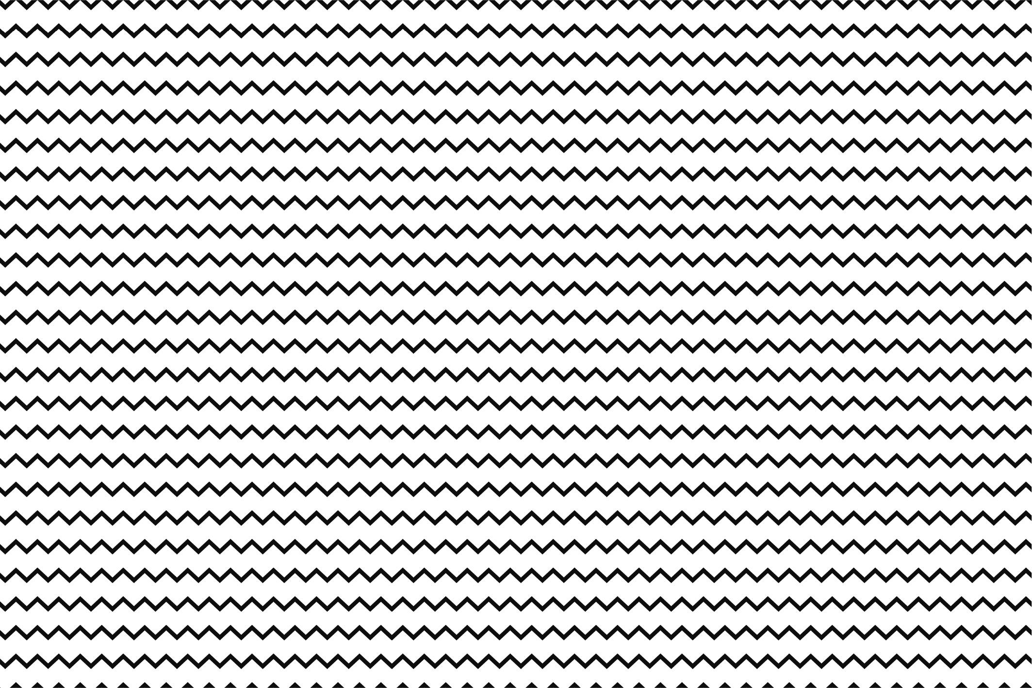 Wave&Zigzag seamless patterns. B&W. example image 11