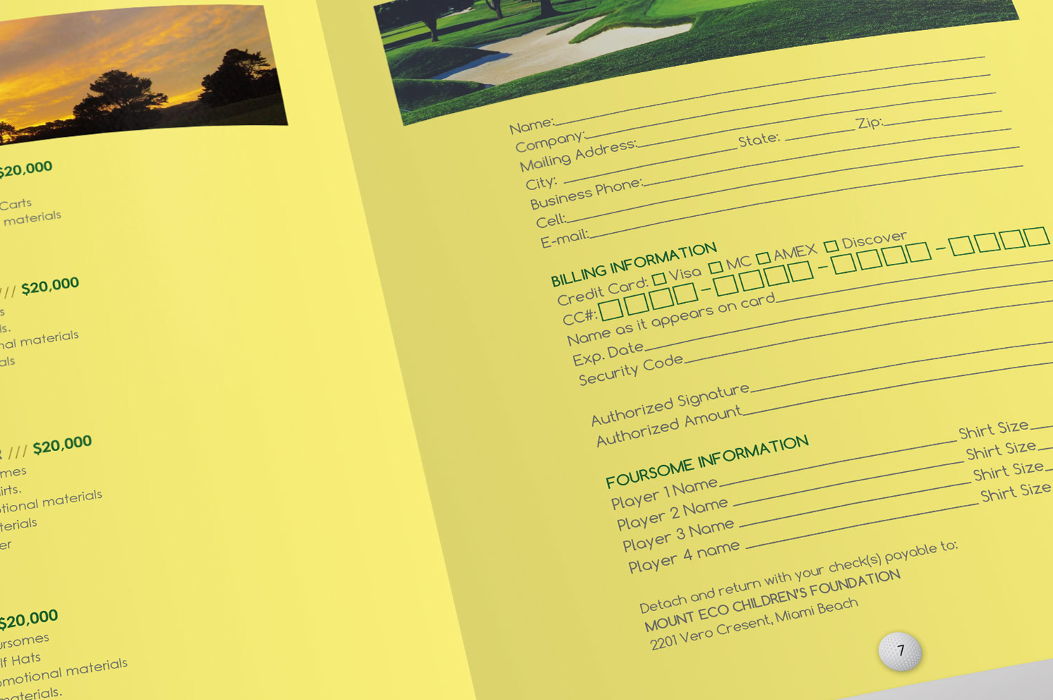 Charity Golf Booklet Publisher Word Template example image 9