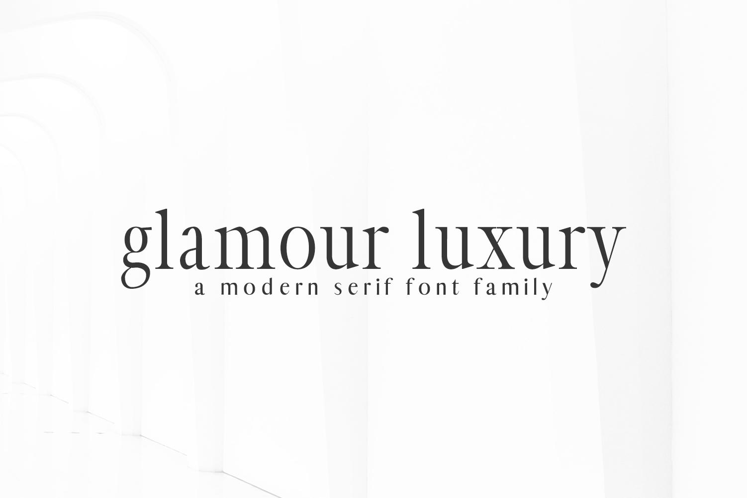 Glamour Luxury Serif Font Family example image 8