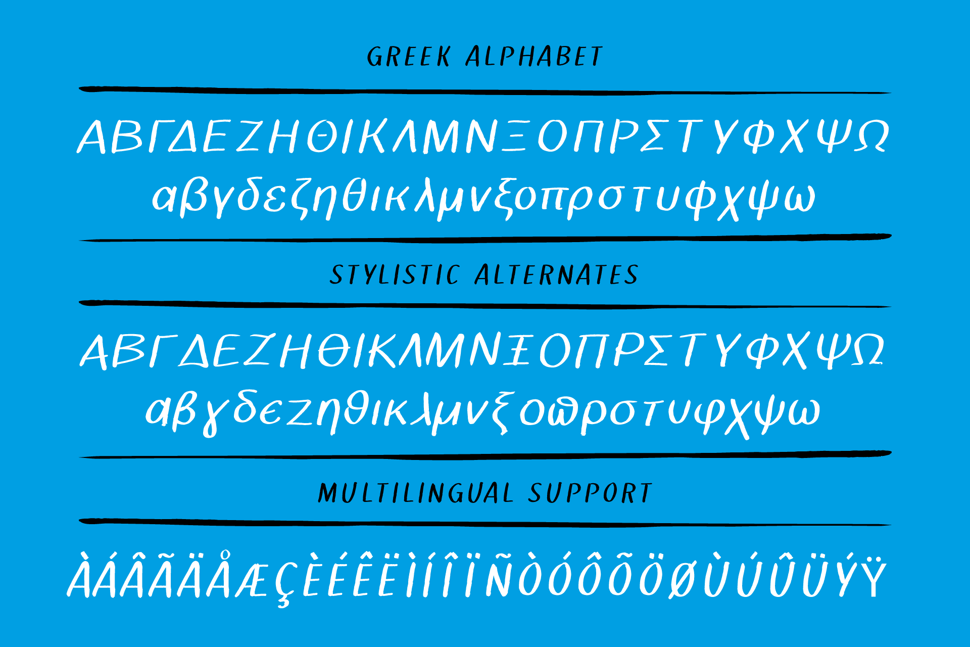 Theologos handmade brush font example image 8