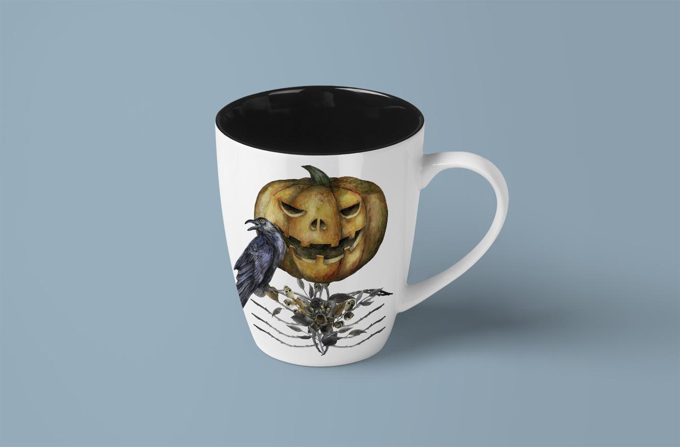 Jack o Lanter Halloween clipart, evil vintage gothic pumpkin example image 8