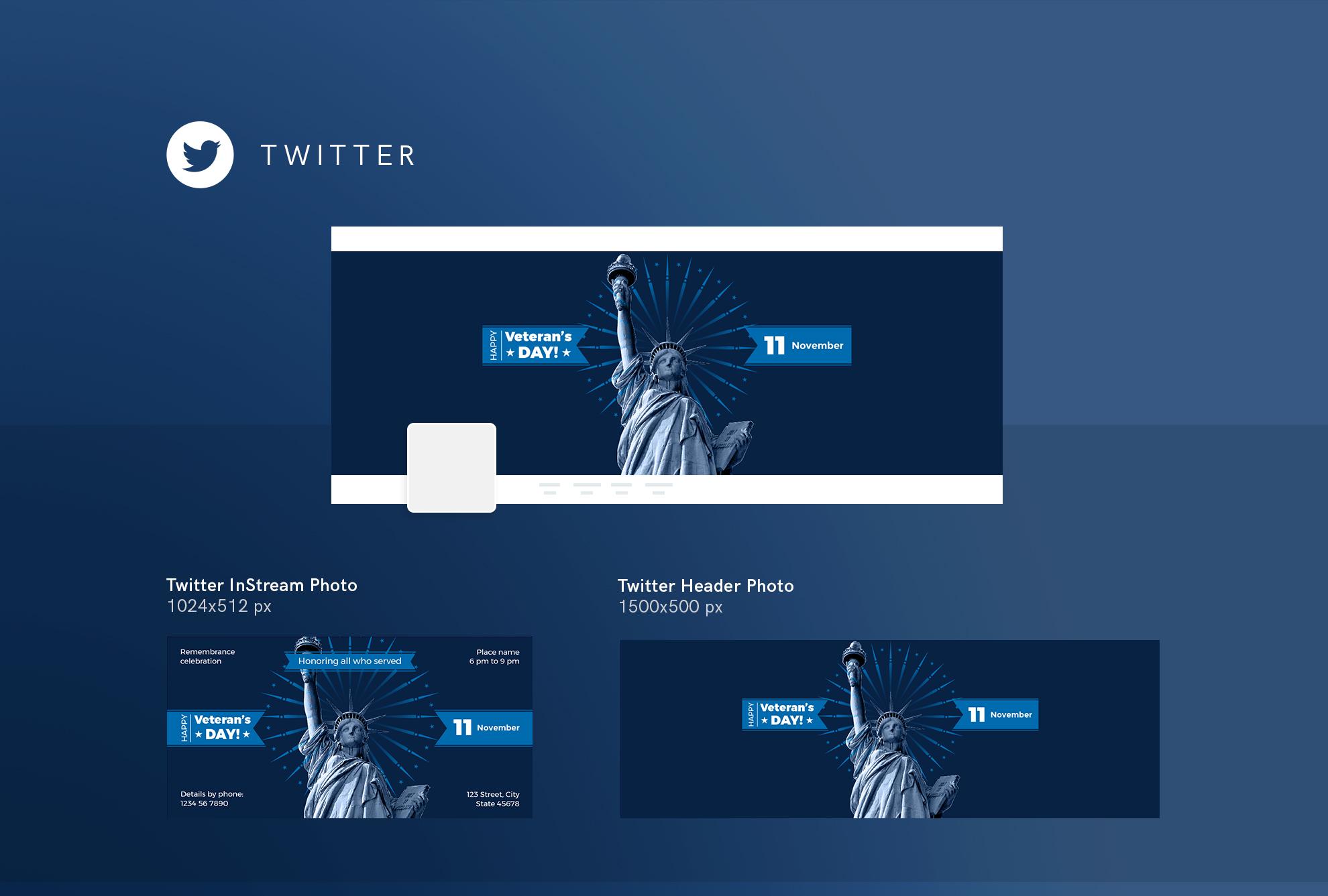Veteran's Day Celebration Design Templates Bundle example image 10