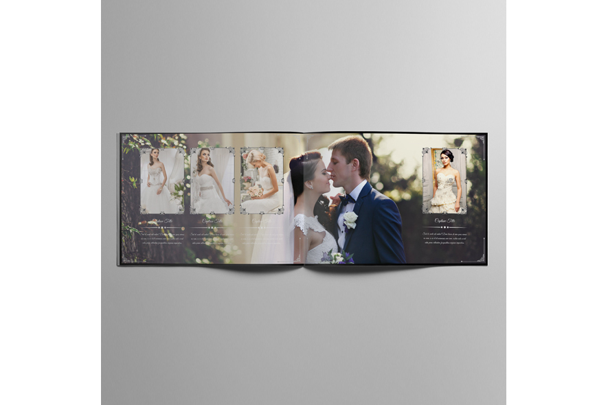 Wedding Photobook Template A4 Landscape V1 example image 4