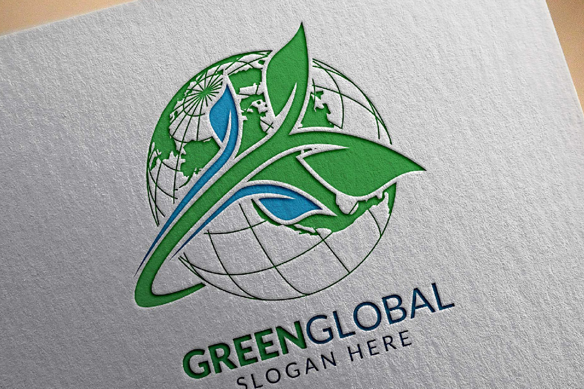 Green Global Ecology logo template example image 5