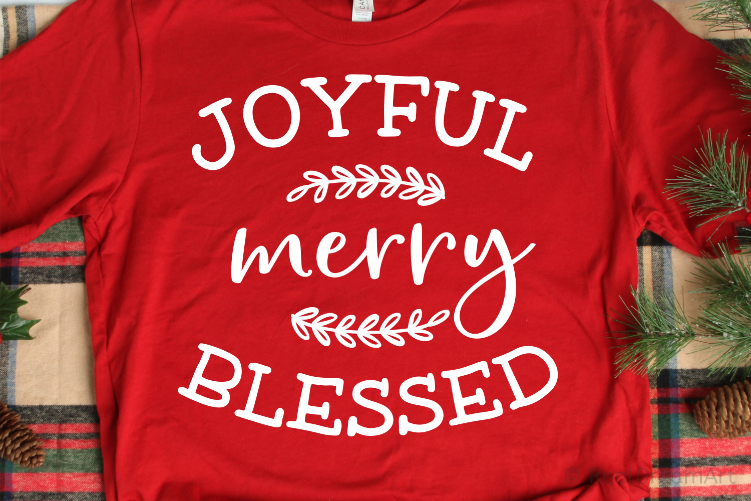 Joyful Merry Blessed SVG, DXF, PNG, EPS example image 1