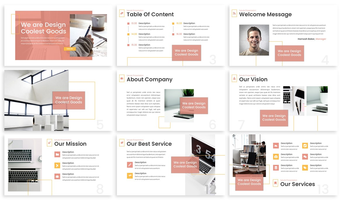 Salude - Pastel Powerpoint Template example image 2