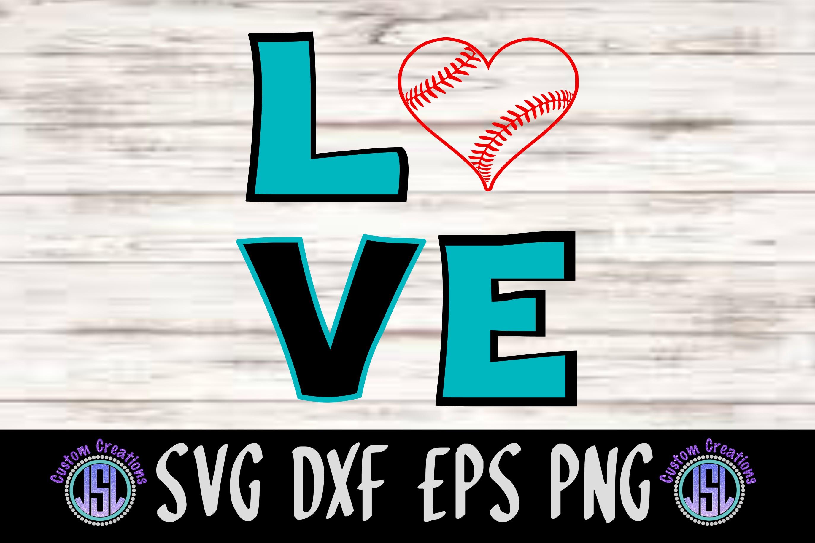 LOVE Baseball Design | SVG DXF EPS PNG Digital Cut File
