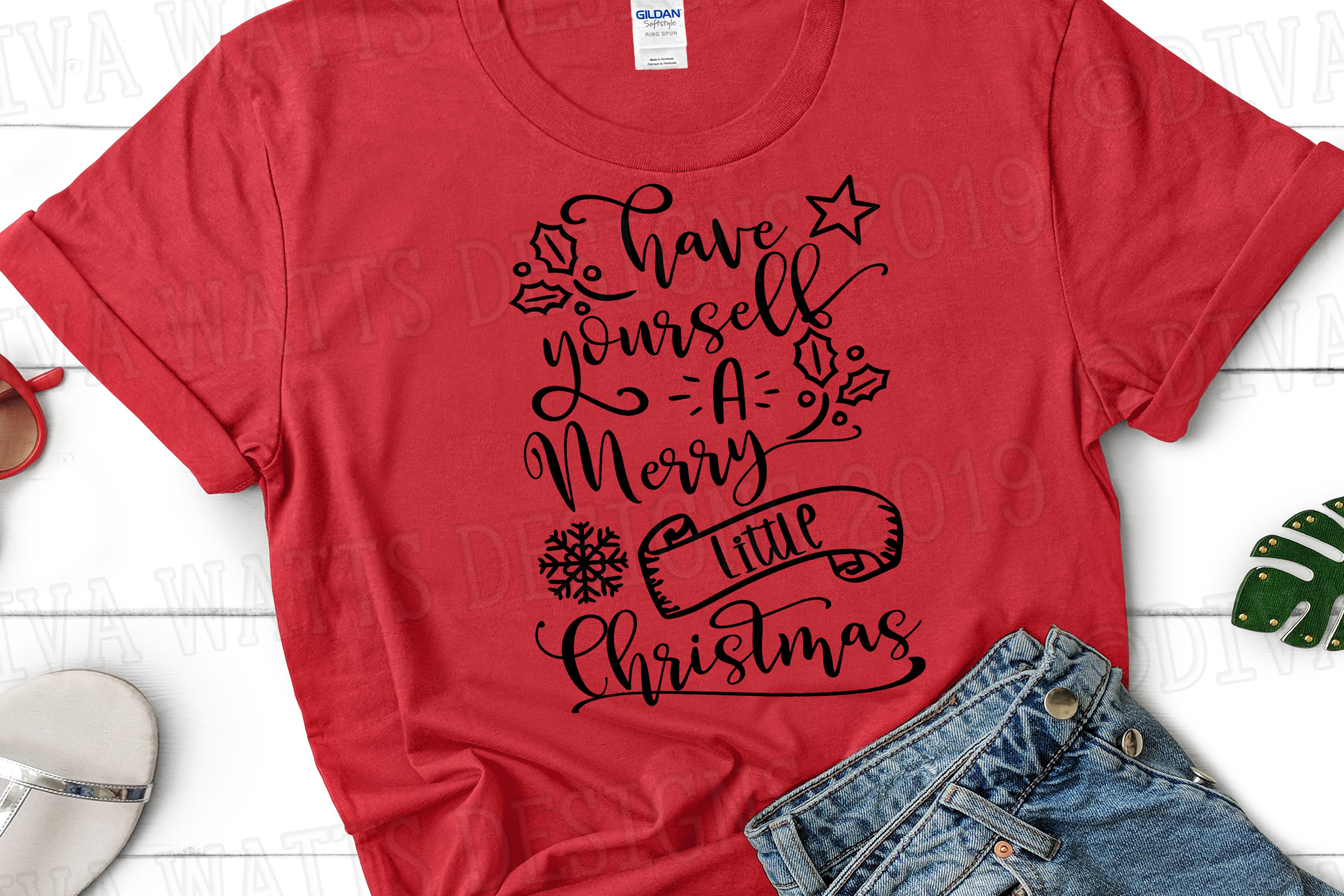 Have Yourself A Merry Little Christmas Cutting File example image 2