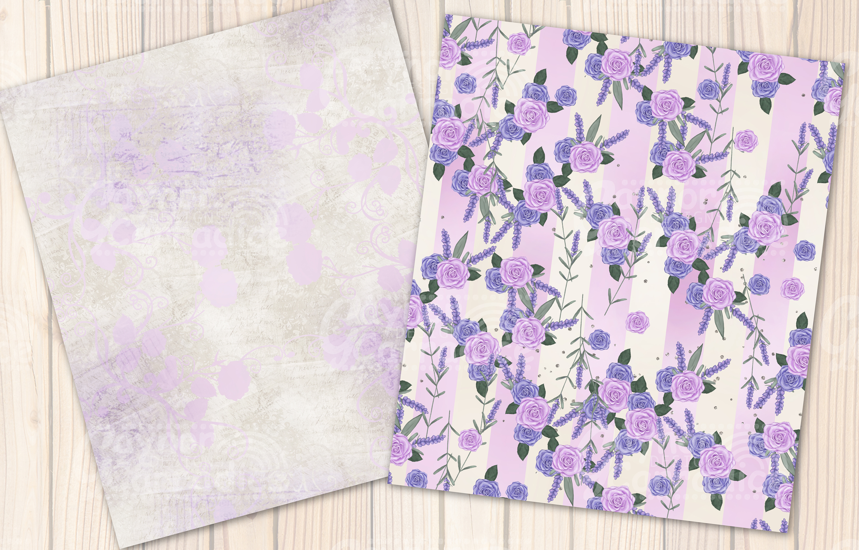 Provence - lavender Seamless Pattern collection example image 4