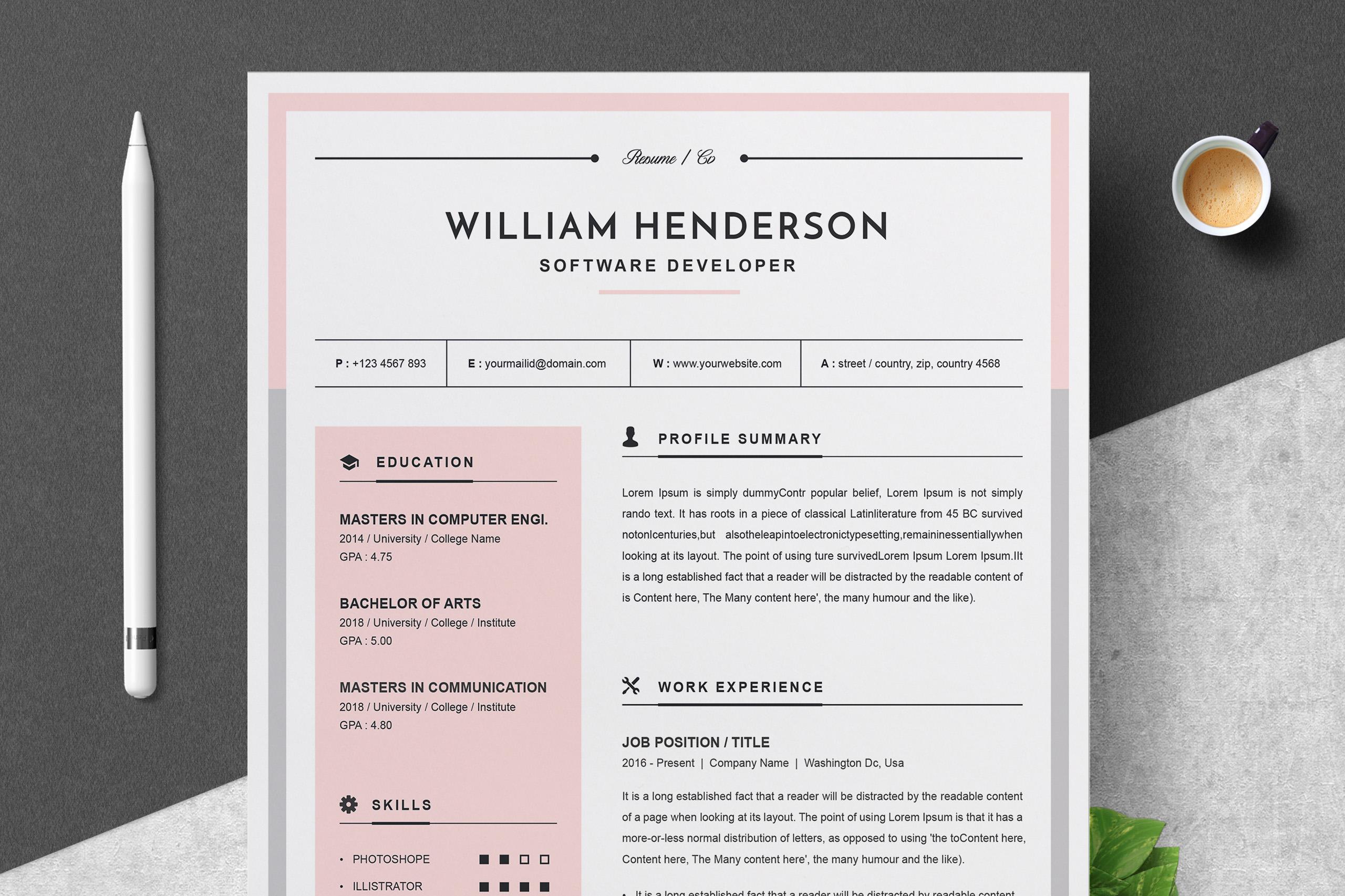 modern resume template 516934  resume templates