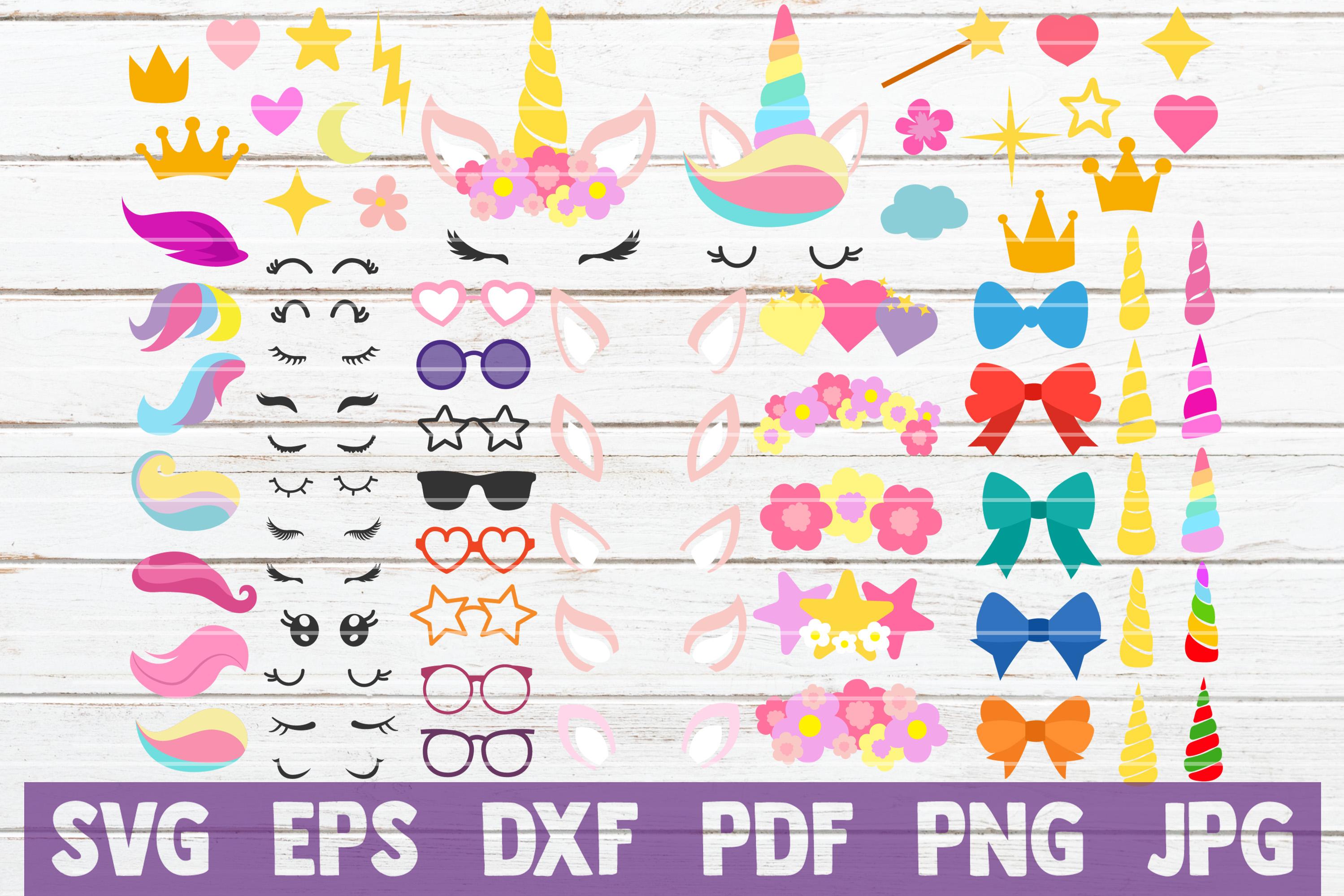Unicorn Kit SVG Cut File   commercial use example image 1