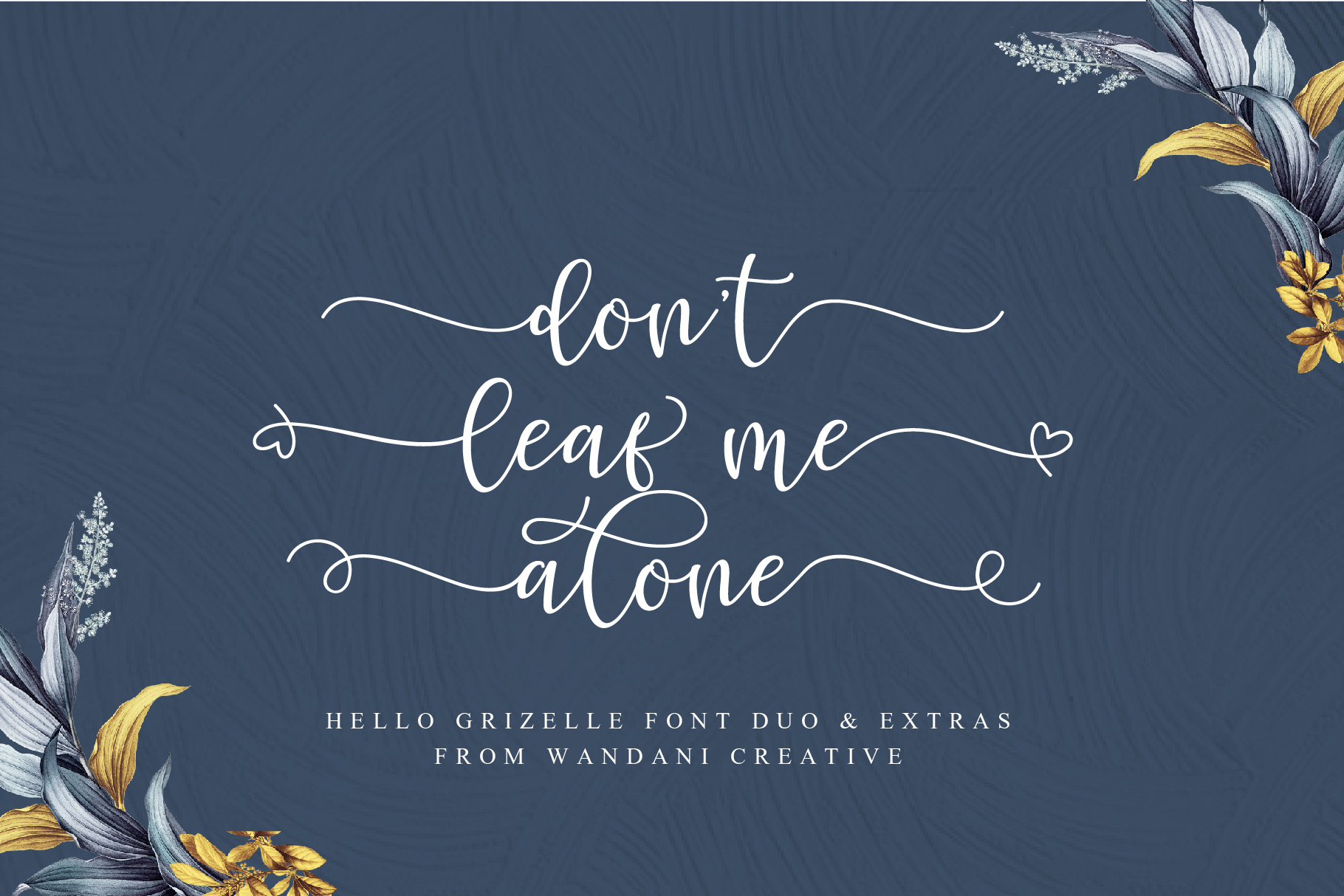 Hello Grizelle Font Duo example image 2