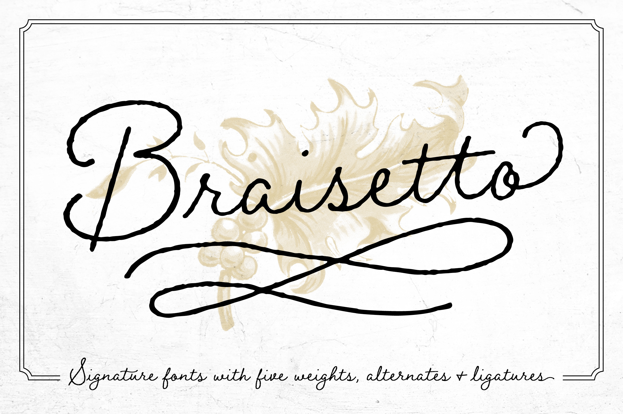Braisetto Font Family example image 1