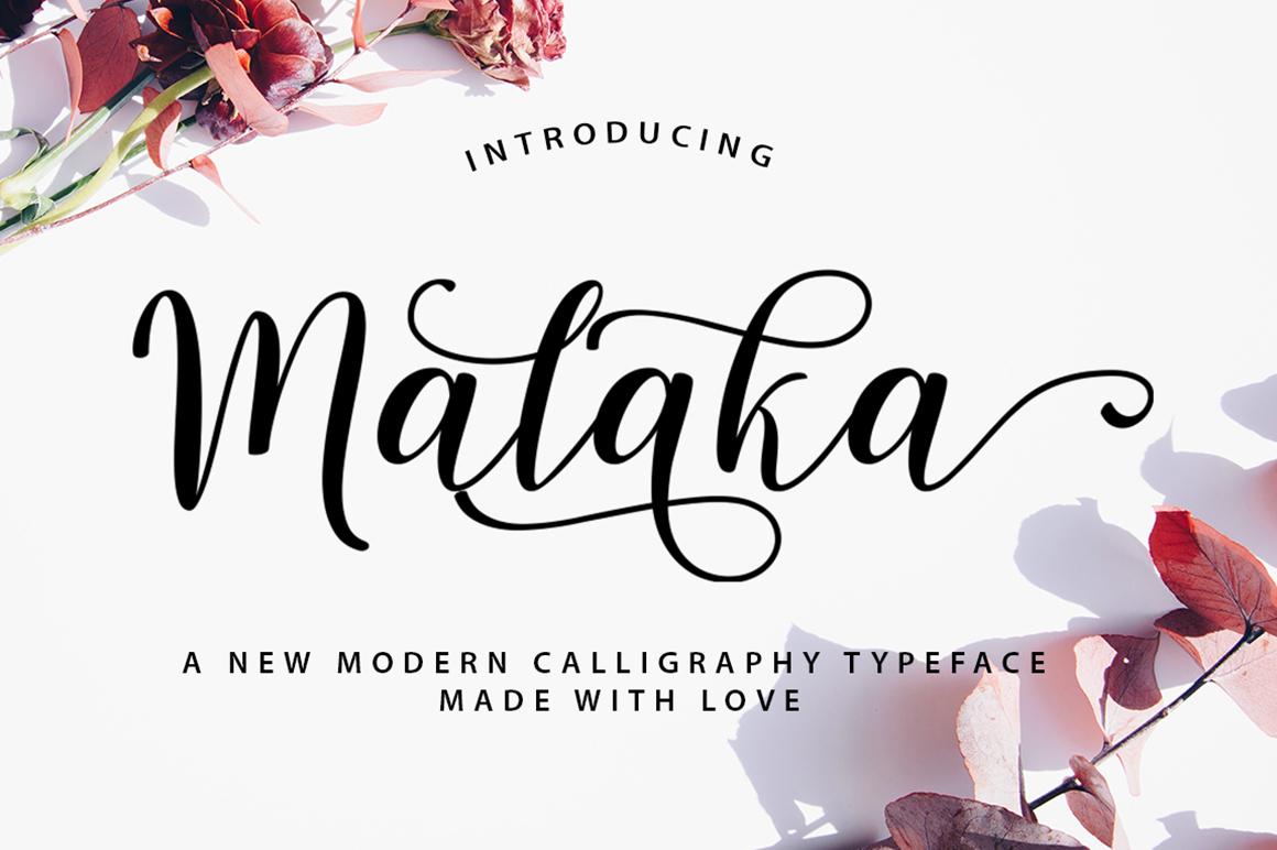 Malaka Script example image 1